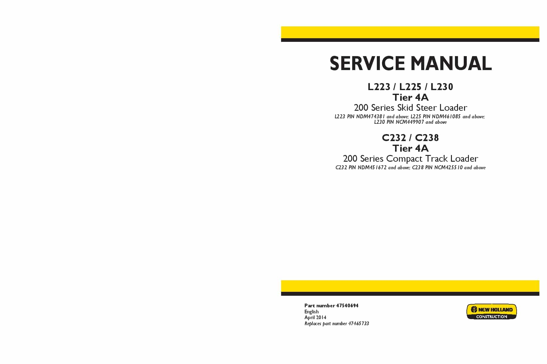new holland c232 free manual downloads
