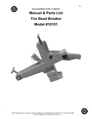 esco manual tire bead breaker model 70160