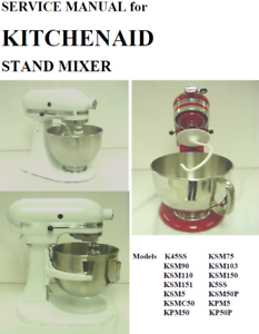 kitchenaid mixer model k45ss manual