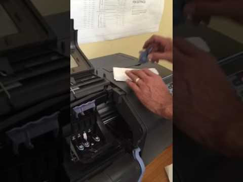 hp manually cleaning print heads